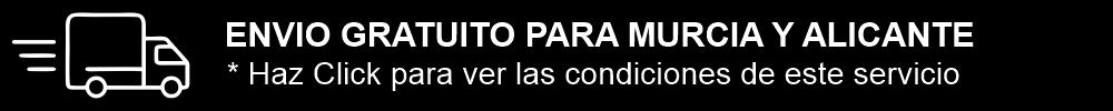 Envio gratuito en Murcia y Alicante